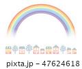町並み 虹 町のイラスト 47624618