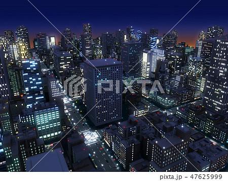 夜景 都会 都市 摩天楼 高層ビル ブライトライト CG 47625999