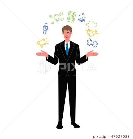 ビジネスマン ビジネス アイコン イラスト 47627083