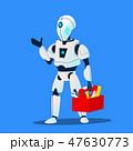 ヒューマノイド ベクトル ロボットのイラスト 47630773