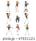 ベースボール 白球 野球のイラスト 47631121