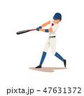 ベースボール 白球 野球のイラスト 47631372