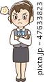 女性 ビジネス 制服のイラスト 47633823