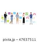 スマホ スマートフォン 携帯電話 コミュニケーション イラスト 47637511
