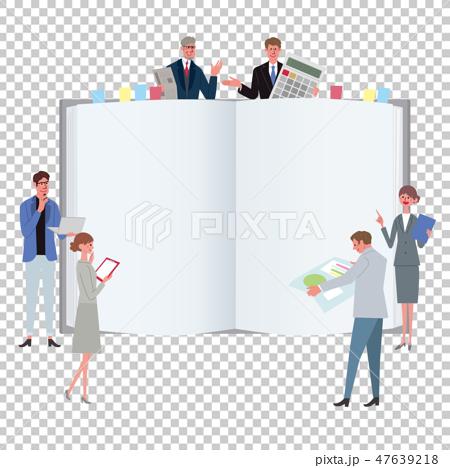 ビジネスコンセプト イラスト チームワーク 会議 プロフェッショナル 47639218