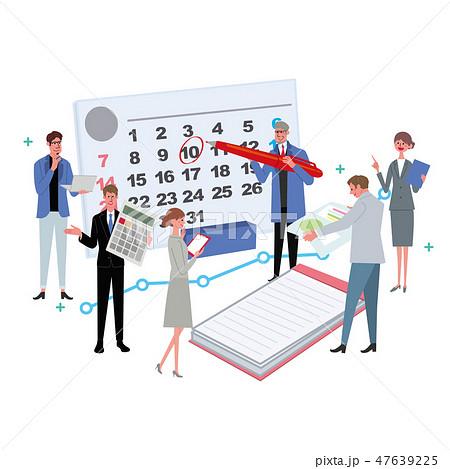 ビジネスコンセプト イラスト スケジュール 会議 プロフェッショナル 47639225
