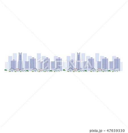 オフィス ビル群 町並み 都会 イラスト 47639330