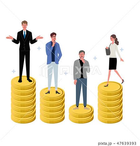 ビジネス コンセプト コインと人々 イラスト  47639393