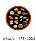 ベクター 正月料理 おせちのイラスト 47641028
