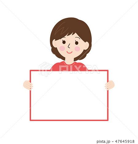 女性-文字スペース1 47645918