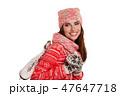 girl with figure skates, studio isolated shoot 47647718