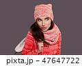 girl with figure skates, studio isolated shoot 47647722