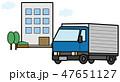 集合住宅とトラックのイラスト素材 47651127