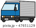 トラックのイラスト素材 47651129