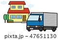 戸建て住宅とトラックのイラスト素材 47651130