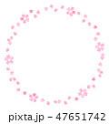 桜のフレーム 水彩 丸 47651742