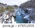 厳美渓 川 冬の写真 47651956