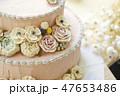 バラのデコレーションケーキ 47653486