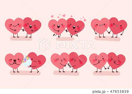 cute cartoon heart 47653839