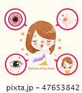 アレルギー 目 眼のイラスト 47653842