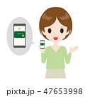 女性 クレジットカード 支払いのイラスト 47653998
