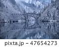 雪景色の只見川第一橋梁 47654273