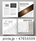 Business templates for square design bi fold brochure, magazine, flyer, booklet. Leaflet cover 47654509
