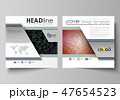 Business templates for square design brochure, flyer. Leaflet cover, vector layout. Chemistry 47654523