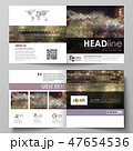 Business templates for square design bi fold brochure, flyer, booklet. Leaflet cover, vector layout 47654536
