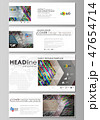 Social media and email headers set, modern banners. Business templates. Vector design layouts in 47654714