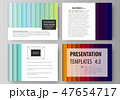 Set of business templates for presentation slides. vector layouts in flat style. Bright color 47654717
