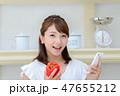 キッチン 女性 47655212