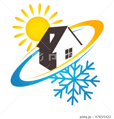 House sun and snowflake design for business 47655422