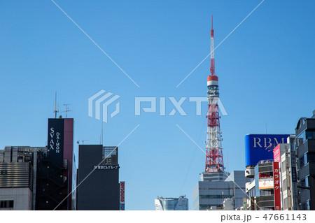 東京タワー 青空 47661143
