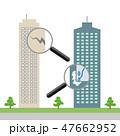 ビル 点検 ひびのイラスト 47662952