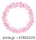 桜 春 背景のイラスト 47663320