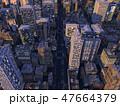 都会の夜景 都市 高層ビル群  CG  イラスト 47664379