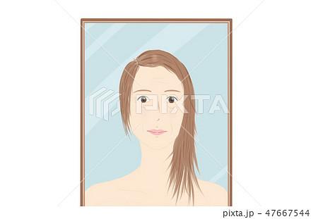 肌の悩み 女性 47667544