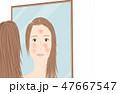 肌の悩み 女性 47667547