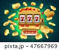 カジノ カジノの スロットのイラスト 47667969