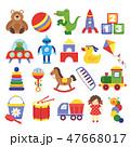 おもちゃ くま クマのイラスト 47668017