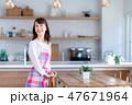キッチン 主婦 女性の写真 47671964