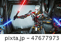 Astronauts with laser swords hid in an ambush on an alien robot invader on his spaceship. Super 47677973
