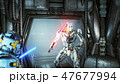 Astronauts with laser swords hid in an ambush on an alien robot invader on his spaceship. Super 47677994