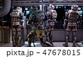 The astronauts in the dashboard of the spaceship, past the soldiers ran in pursuit of the alien 47678015