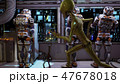 The astronauts in the dashboard of the spaceship, past the soldiers ran in pursuit of the alien 47678018