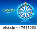 fortune wheel spinning  on bokeh background 47683068