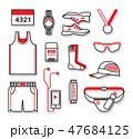 アクセサリー 服 衣類のイラスト 47684125