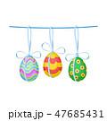 たまご 卵 吊るすのイラスト 47685431