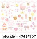 女の子の赤ちゃん向け 47687807